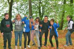 Fra venstre Dennis, Rikke, Isabell, Nicole, Ali og Nikita