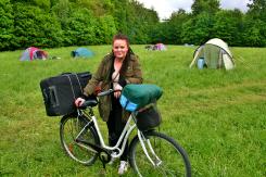 Pernille tog turen på cykel